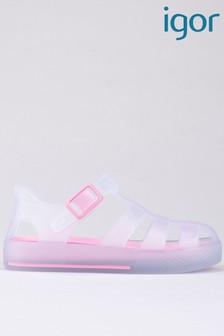 Igor Clear Tenis Mc White/Pink Sandals