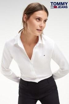 Tommy Jeans White Jenna Oxford Shirt