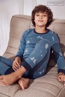 The White Company Blue London At Night Pyjamas