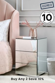 Mirror Sloane 3 Drawer Bedside Chest