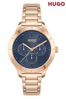 HUGO Friend Carnation Gold Bracelet Watch