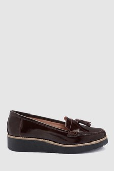 Berry Patent  Leather EVA Tassel Loafers