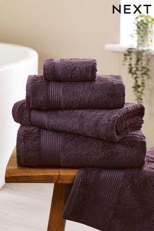 Aubergine Purple Egyptian Cotton Towels