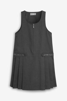 Grey Embroidered Pinafore (3-14yrs)