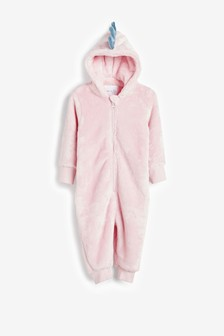 Pink 3D Dino Fleece All-In-One (9mths-8yrs)