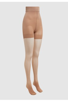 Tan Bum/Tum/Thigh Gloss Shaping Tights