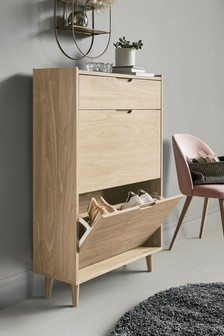 Light Oak Oslo Shoe Storage