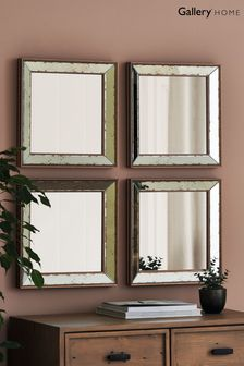 Set of 4 Bambra Mirrors by Gallery