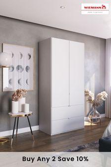 White Matt Monroe Two Door Wardrobe