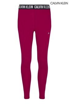 Calvin Klein Purple Branded Waistband Full Length Tights