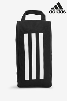 adidas Black 3 Stripe Bootbag