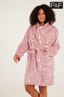 F&F Pink Star Robe