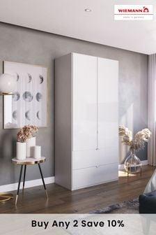 White Glass Monroe Two Door Wardrobe