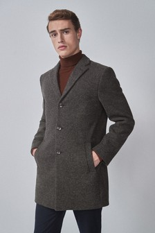 Charcoal Epsom Coat