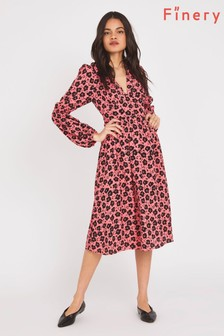 Finery Pink Inez Floral Print Dress