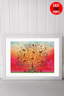 Goats In Trees Framed Print by East End Prints