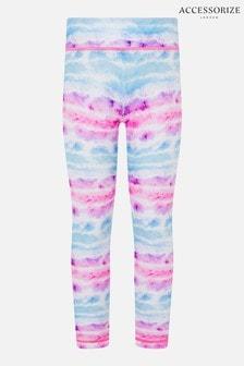 Accessorize Pink Tie Dye Active Leggings