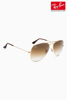 Ray-Ban® Brown Gradient Aviator Sunglasses