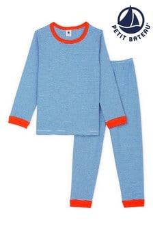 Petit Bateau Blue Stripe Pyjamas