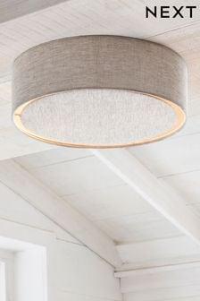 Oatmeal Malvern 2 Light Flush Ceiling Light
