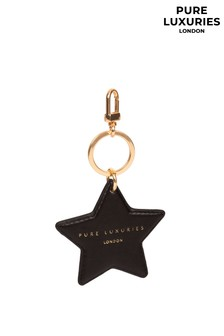 Pure Luxuries London Drayton Leather Star Keyring