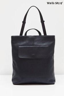White Stuff Navy Mimi Leather Convertible Bag
