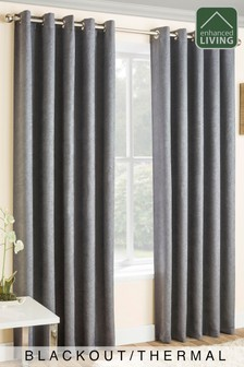 Enhanced Living Grey Lined Thermal/Blackout Curtains
