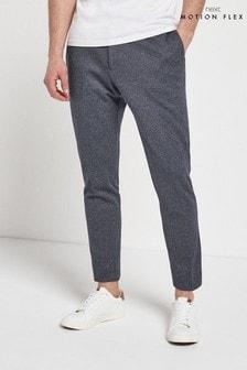 Blue Slim Fit Motionflex Suit: Trousers