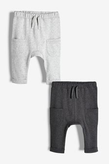 Grey 2 Pack Joggers (0mths-2yrs)