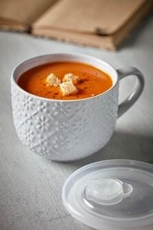 Embossed Soup Mug