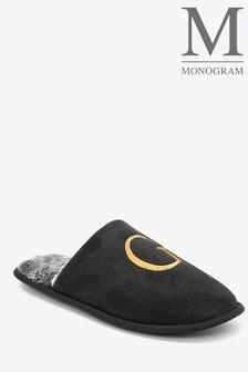 Black Medium Monogram Mules