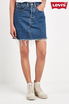 Levi's® Deconstructed Denim Mini Skirt