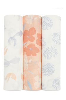 aden + anais Silky Soft Koi Pond Large Swaddles 3 Pack