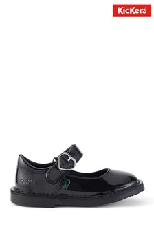Kickers Adlar Heart Mary-Jane Patent Leather Shoes
