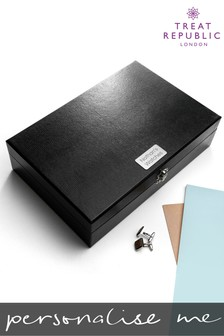 Personalised Watch And Cufflinks Box by Treat Republic
