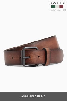 Tan Signature Italian Leather Belt
