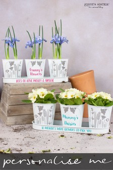 Personalised Triple Planter by Jonny's Sister