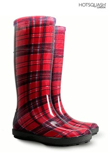 HotSquash Women's Red Wellington Boots