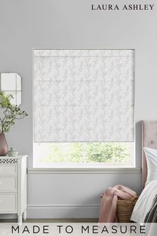 Laura Ashley Pussy Willow Dove Grey Made to Measure Roman Blind