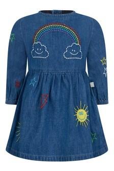 Baby Girls Blue Chambray Weather Dress