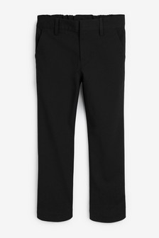 Black Slim Waist Formal Stretch Skinny Trousers (3-17yrs)