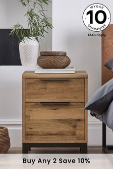Bronx 2 Drawer Bedside Table