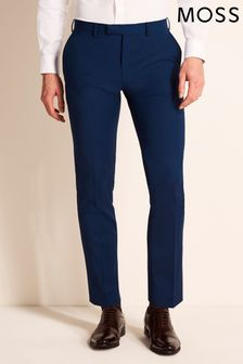 Moss 1851 Performance Tailored Fit Royal Blue Trousers