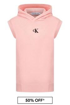 Calvin Klein Jeans Girls Pink Cotton Dress