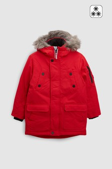 Red  Parka Jacket (3-16yrs)