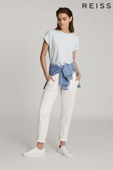 Reiss Blue Tereza Cotton Jersey T-Shirt