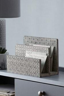 Tile Print Letter Rack