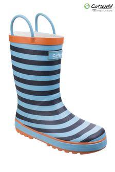 Cotswold Blue Captain Stripy Wellies