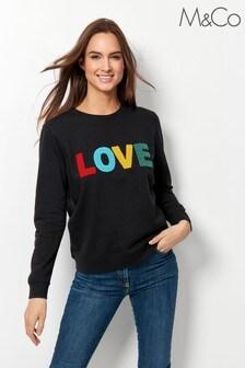 M&Co Black Love Sweatshirt