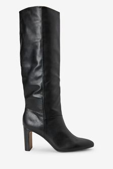 Black Forever Comfort® Feature Heel Knee High Boots